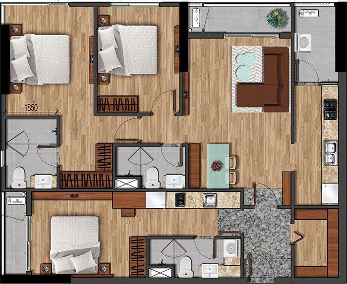 121 m2 akari