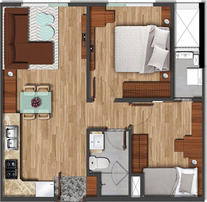 56 m2 akari