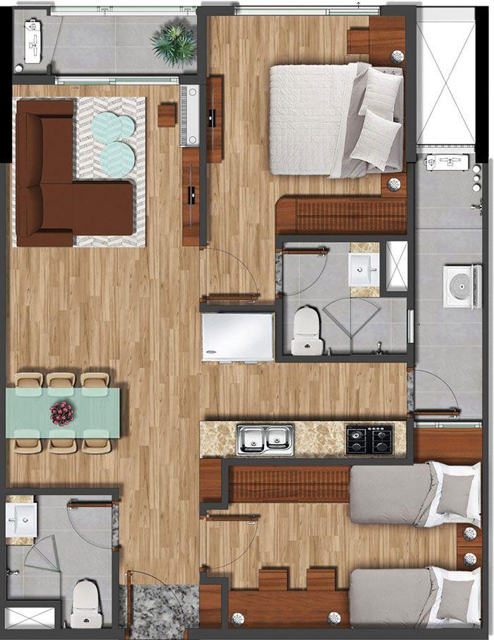75 m2 akari