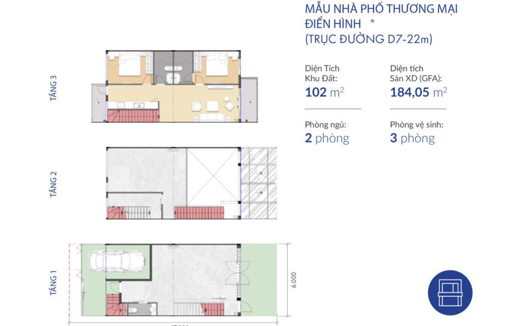 thiết kế shophouse dự án Waterpoint